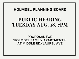 Holmdel PB hearing for Middle Rd