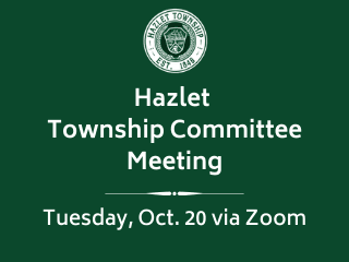Hazlet TC Meeting Oct. 20