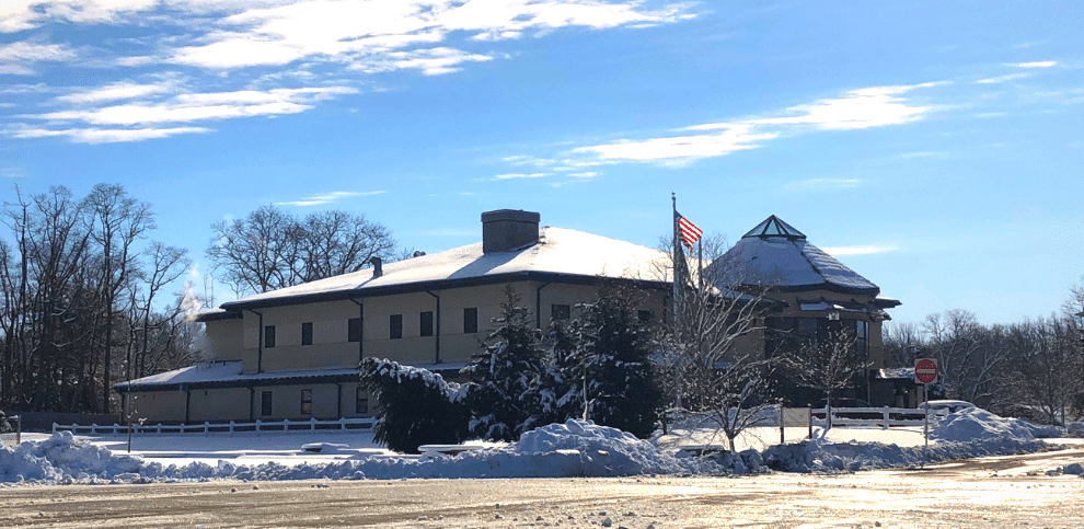 Hazlet Municipal Building in the Snow - Feb. 2021