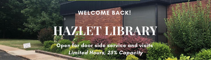 Hazlet Library, Open with limited service