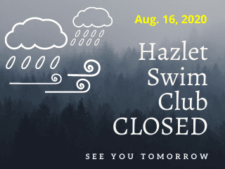 Swim Club Closed Aug. 16