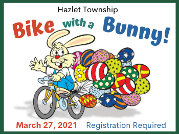 Bike With Bunny in Hazlet Township