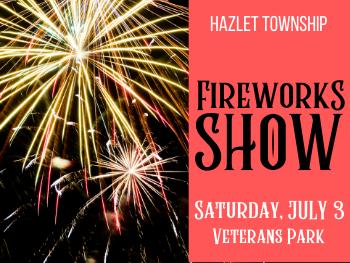 Hazlet Fireworks July 3