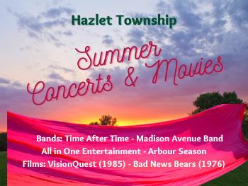 Hazlet Township Summer Concert & Film Series List of Events