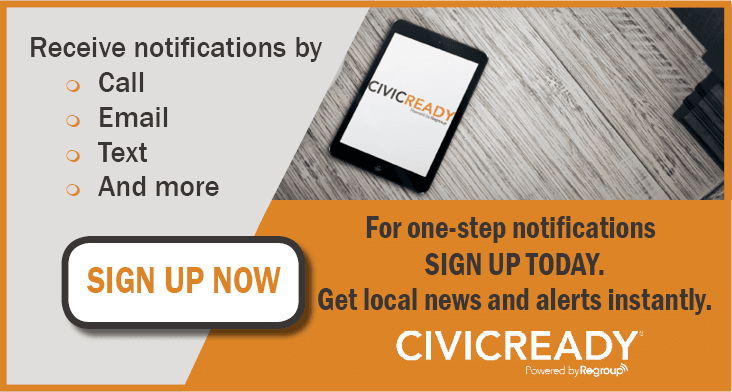 Sign Up for Emergency Notifications with Civic Ready